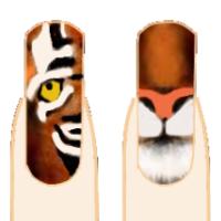 тигр на ногте