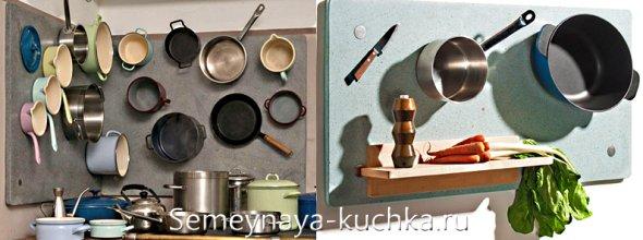 магнитная идея для хранения на кухне кастрюль