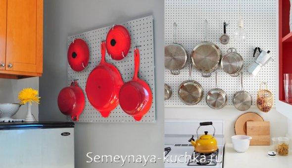 панно-держатель для хранения кастрюль