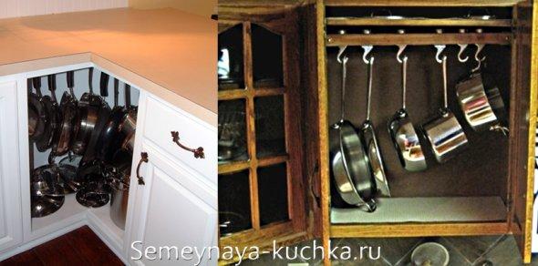 где хранить сковородки