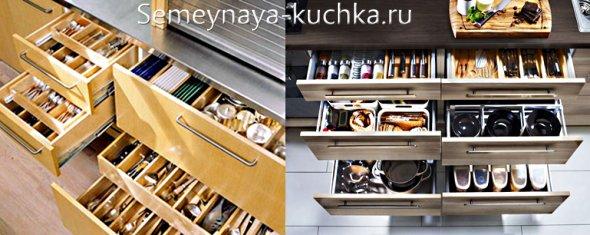 идеи для хранения на кухне