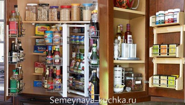 подвесные полки для хранения на кухне