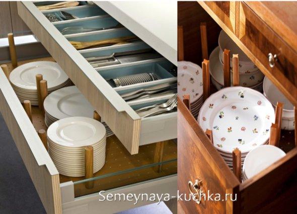 идеи для хранения посуды на маленькой кухне