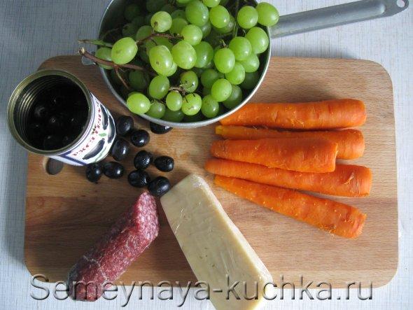 ингридиенты по рецепту салата на праздник