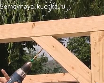 усилительная балка для постройки перголы