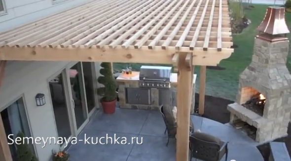 как сделать крышу перголы