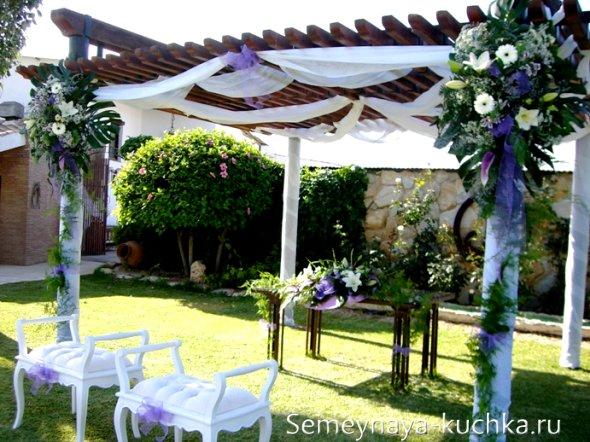 пергола для свадьбы во дворе