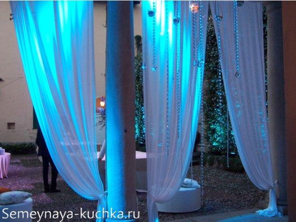 штора для свадебного шатра
