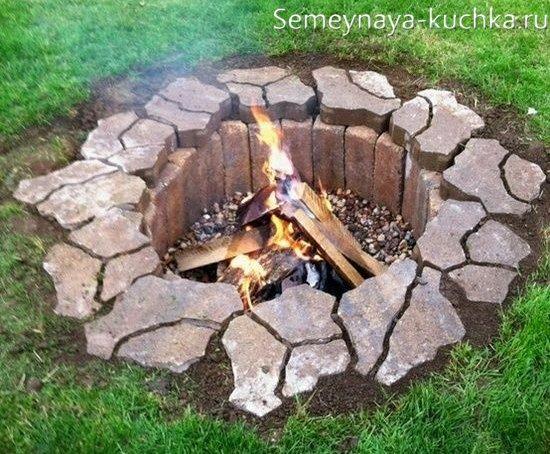 место для огня на даче