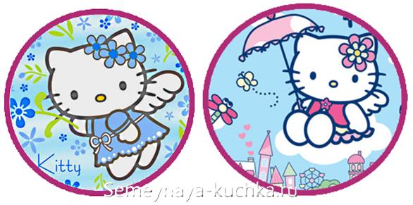 часы для детской Hello Kitty сделать своими руками