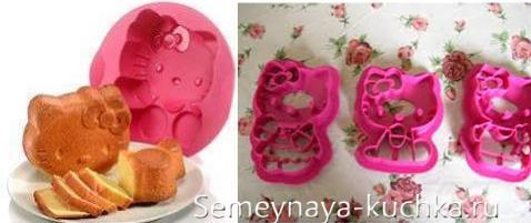 кулинарные формы Hello Kitty