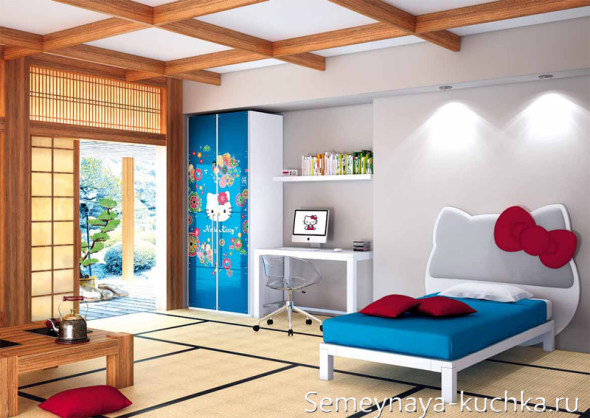 Детская комната в стиле Hello Kitty