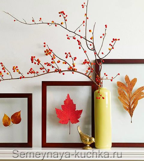 картины-поделки из листьев