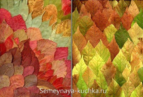 картыны из осенних листьев своими руками