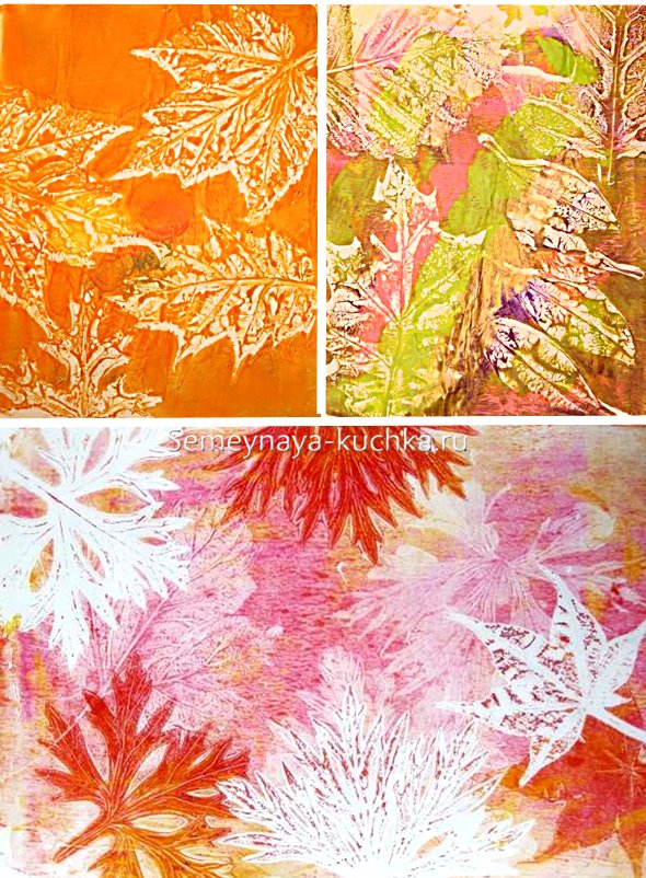 как сделать картину в технике листьев