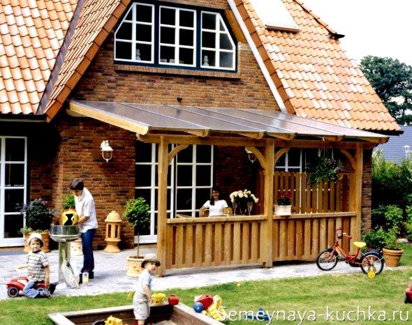 крыша для навеса из поликарбоната