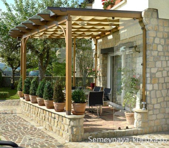 прозрачная поликарбонатная крыша для навеса