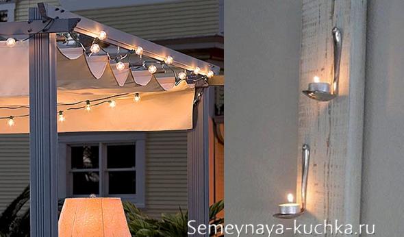 освещение для крыши навеса