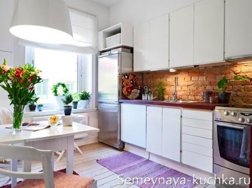 кирпичная стенка на кухне
