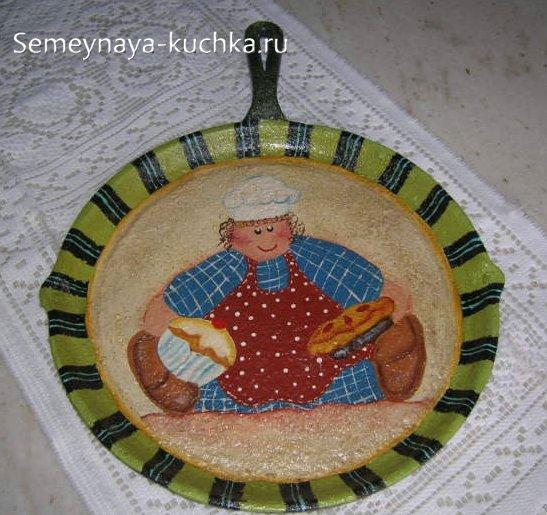 рисунки на сковороде для украшения кухни