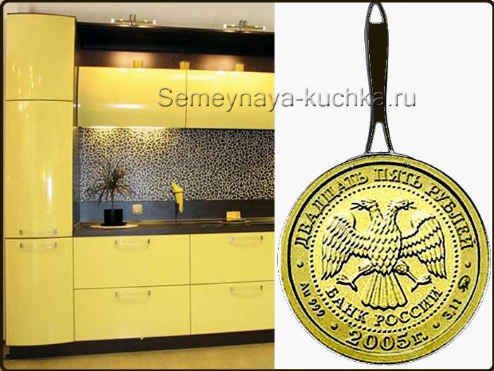 мужской подарок из сковороды на стену в кухню