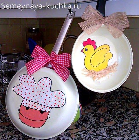 рисунки на сковороде