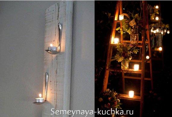 свечи под навесом