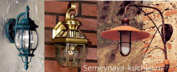 светильники для навеса настенные