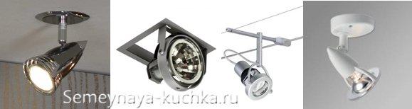 точечные светильники для навеса