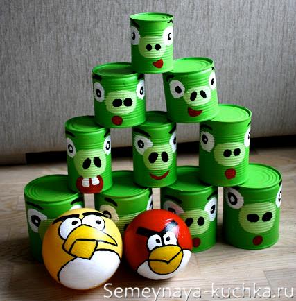 игра-аттракцион Angry Birds своими руками