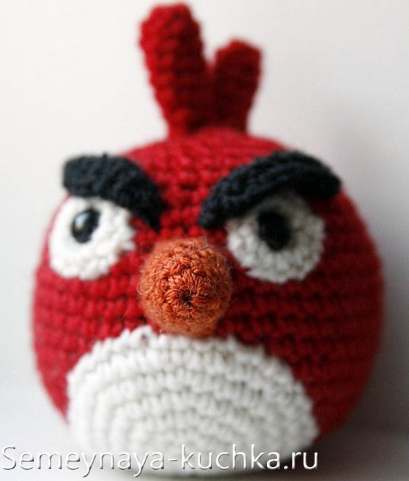 как связать птичку Angry Birds крючком