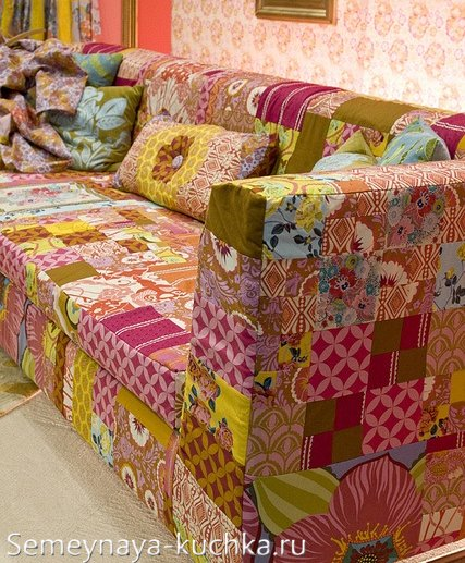 диван в стиле пэчворк