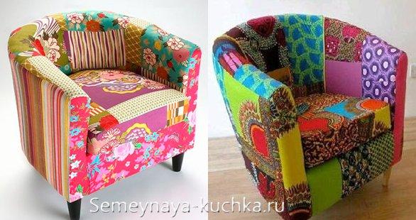 новая обивка для кресла