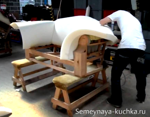 Изготовление дивана своими руками фото