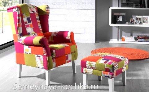 как заменить обивку на кресле