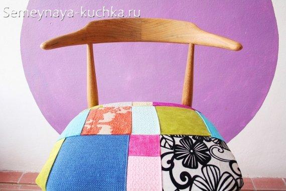 как обновить стул пэчворк