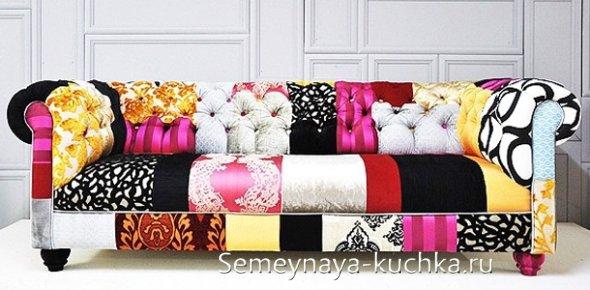лоскутный диван
