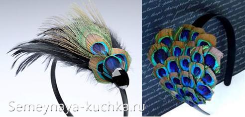 обруч для волос с перьями