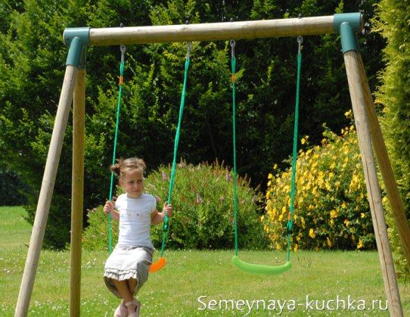 как сделать садовые качели