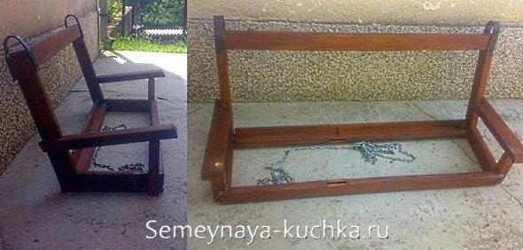 как сделать скамейку качели