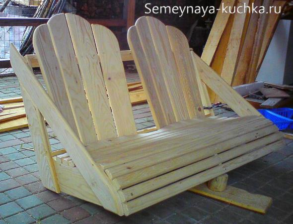 скамейка-качели сделать самим