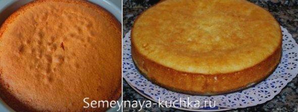 бисквитный фруктовый торт