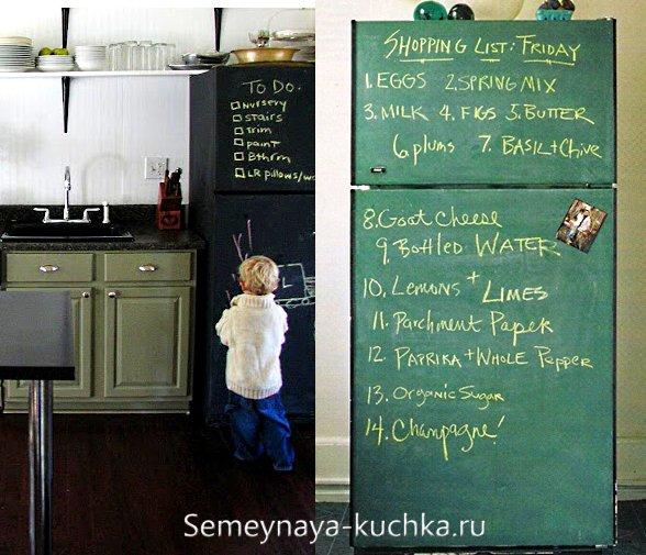 меловая краска для холодильника