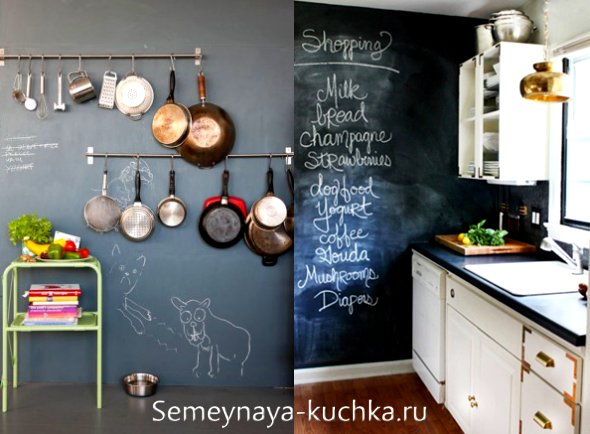 меловые стены на кухне