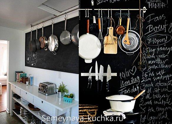 грифельные стены на кухне