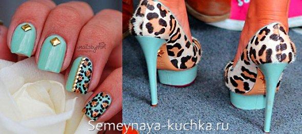маникюр под леопардовые туфли