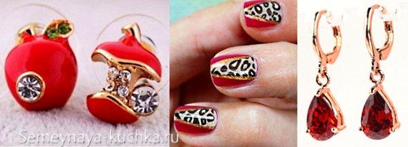 леопардовые ногти под платье
