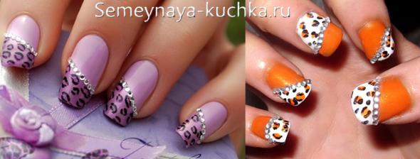 фото леопардового маникюра
