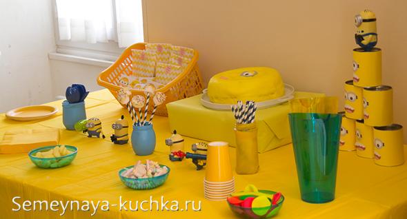 как сервировать стол на детский праздник