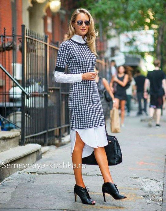 что носить с платьем этой осенью